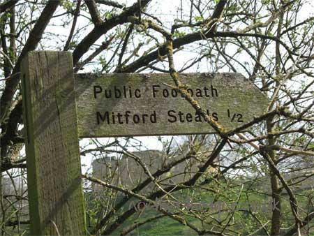Agnes Bertram, Hugh de Eure, Mitford Castle